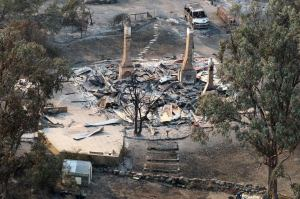Courtesy:yahoo.news:  Destroyed home in Dunalley, Tasmania