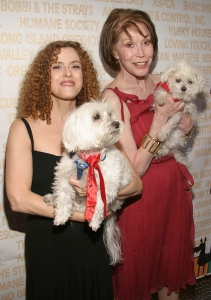 With Bernadette Peters